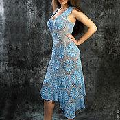 """Одежда ручной работы. Ярмарка Мастеров - ручная работа Платье """"Голубые ромашки"""". Handmade."""
