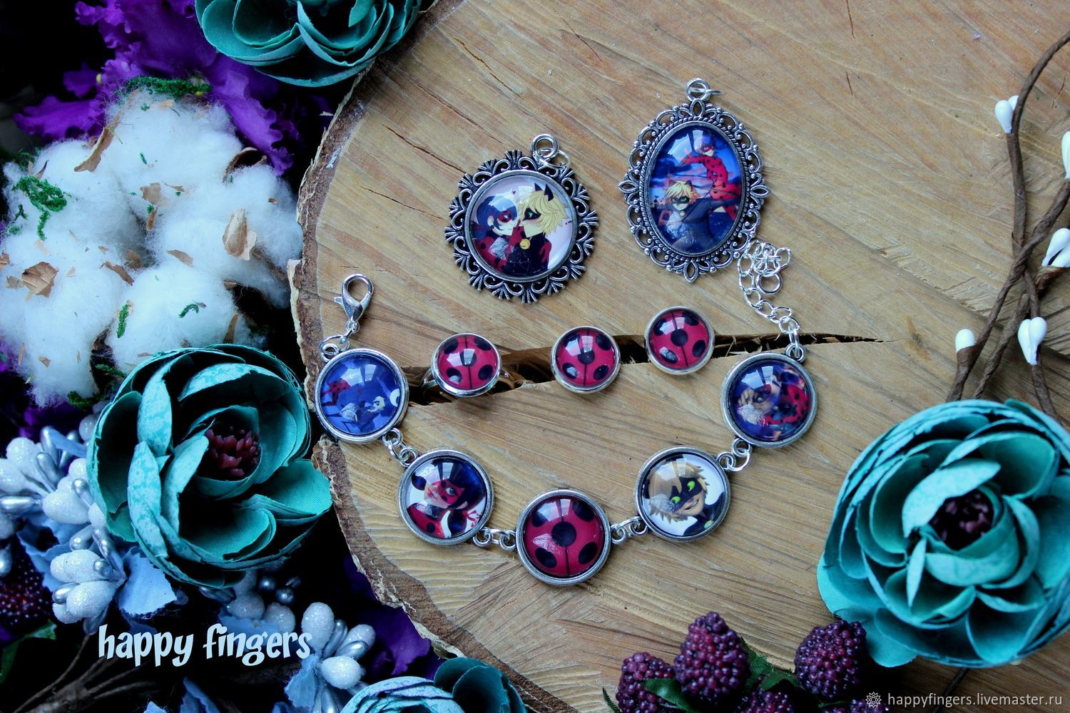 Jewelry 'Lady Bug and super-cat' Miraculous Ladybug, Jewelry Sets, Elektrostal,  Фото №1