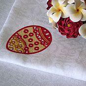 Подарки к праздникам ручной работы. Ярмарка Мастеров - ручная работа Салфетка с вышивкой Пасхальное яйцо. Handmade.