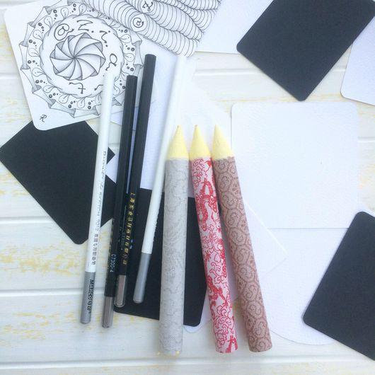 Карандаши, ручки ручной работы. Ярмарка Мастеров - ручная работа. Купить Растушевка из пресованной рисовой бумаги. Handmade. Карандаш, скетч