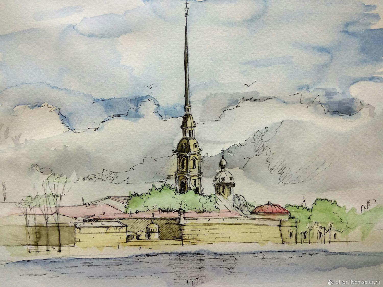 площади санкт-петербург рисунки акварелью богата разнообразием замков