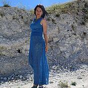 Одежда ручной работы. Ярмарка Мастеров - ручная работа Длинное вязанное  ажурное платье. Handmade.