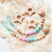 Одежда handmade. Livemaster - original item Nipple / pacifier holder pastel rainbow. Handmade.