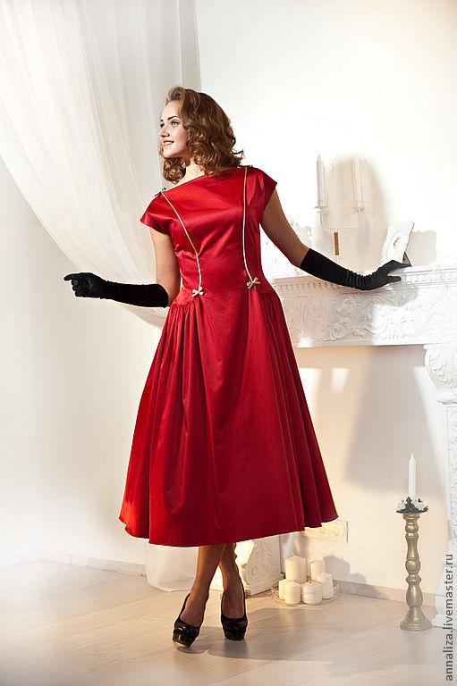 53cef4b8f5d Платья ручной работы. Ярмарка Мастеров - ручная работа. Купить Платье в  стиле 50- ...