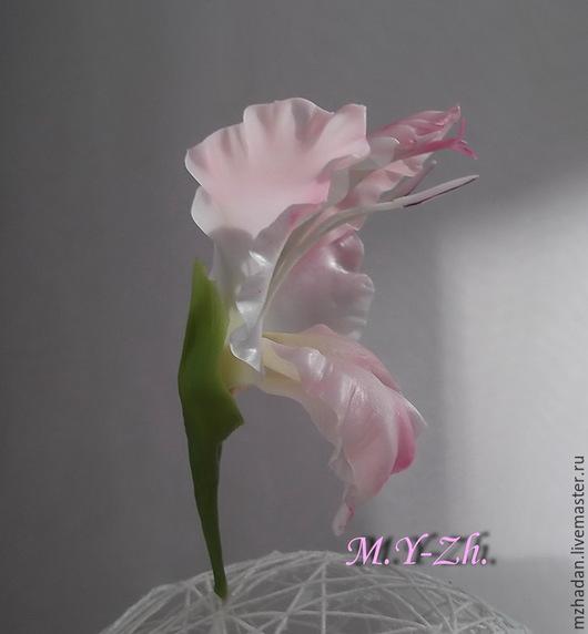 Шпильки для волос, Шпильки с цветками Гладиолуса,Шпильки с цветком из полимерной глины
