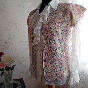 Одежда ручной работы. Ярмарка Мастеров - ручная работа жилет крючком летний от Илоны. Handmade.