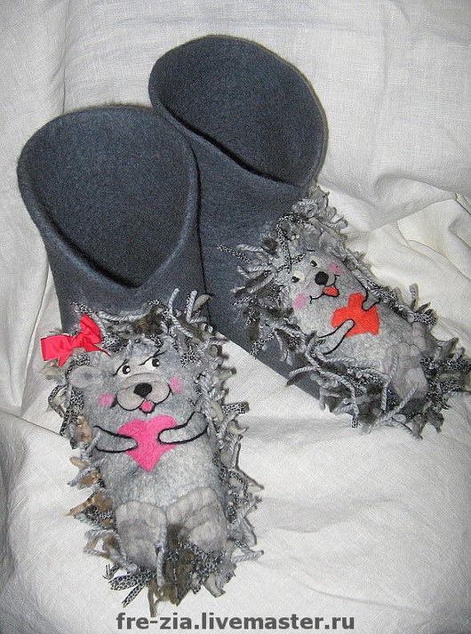 """Обувь ручной работы. Ярмарка Мастеров - ручная работа. Купить """"Мой Ёжик"""". Handmade. Новозеландский кардочёс"""