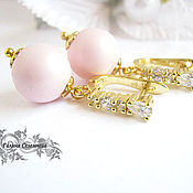 Украшения handmade. Livemaster - original item Earrings with Swarovski pearls of different options. Handmade.