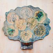 Для дома и интерьера ручной работы. Ярмарка Мастеров - ручная работа дерево c кувшинками. Handmade.
