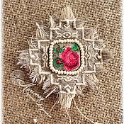 """Украшения ручной работы. Ярмарка Мастеров - ручная работа Бохо брошь  """"Как хороши, как свежи были розы..."""". Handmade."""