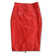 Одежда handmade. Livemaster - original item Ferrary leather skirt. Handmade.