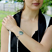 handmade. Livemaster - original item Aben bracelet made of 925 sterling silver with stones GR0007. Handmade.