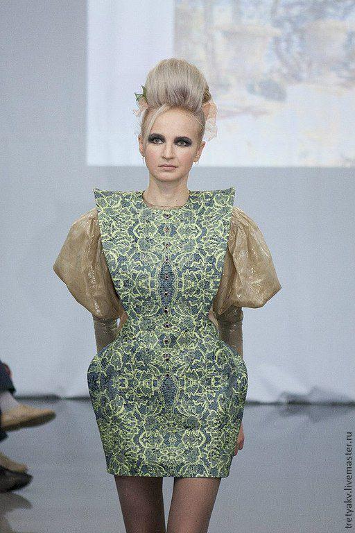 Платья ручной работы. Ярмарка Мастеров - ручная работа. Купить Сарафан. Handmade. Тёмно-зелёный, дизайнерская одежда