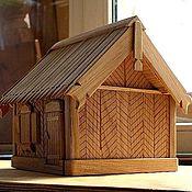Элементы интерьера ручной работы. Ярмарка Мастеров - ручная работа Шкатулка - домик в деревне. Handmade.