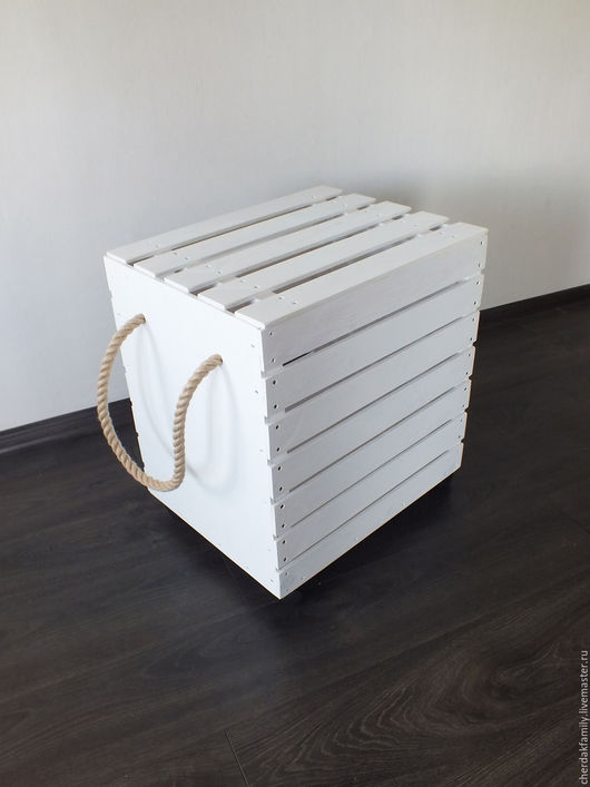 """Детская ручной работы. Ярмарка Мастеров - ручная работа. Купить Ящик для игрушек с крышкой """"белый"""". Handmade. Белый, ящик на колесах"""