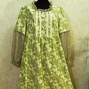 Одежда ручной работы. Ярмарка Мастеров - ручная работа Платье р.48 длинное из вельвета .бохо-стиль. Handmade.