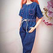 Куклы и игрушки handmade. Livemaster - original item Denim overalls for Barbie. Two options. Handmade.