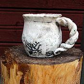 Посуда ручной работы. Ярмарка Мастеров - ручная работа Чашка керамическая раку 2. Handmade.