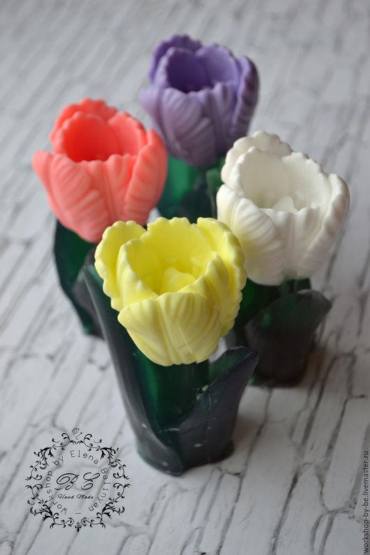 Мыло ручной работы. Ярмарка Мастеров - ручная работа. Купить Мыло Тюльпан. Handmade. Желтый, цветы, подарок любимой, коллеге