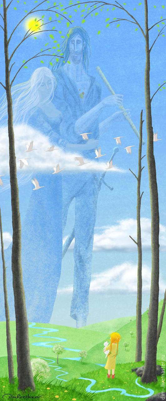 Фантазийные сюжеты ручной работы. Ярмарка Мастеров - ручная работа. Купить БЕС НАЧАЛА (МАЙ). Handmade. Бирюзовый, сказка, волшебство