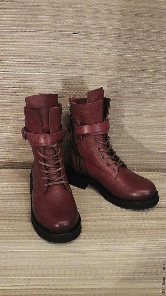 Обувь ручной работы. Ярмарка Мастеров - ручная работа. Купить ботинки женскиеAIR-U. Handmade. Коричневый, кожа натуральная