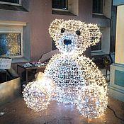 """Дизайн и реклама ручной работы. Ярмарка Мастеров - ручная работа Каркасная световая фигура """"Мишка"""". Handmade."""