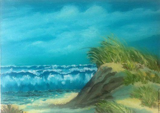 Интернет магазин картин `Картины художника` Ирины Абрамовой i-painting.livemaster.ru . Картина маслом. Картина для интерьера. Купить картину. Море, песок, лето, пляж, яркая картина, волны.