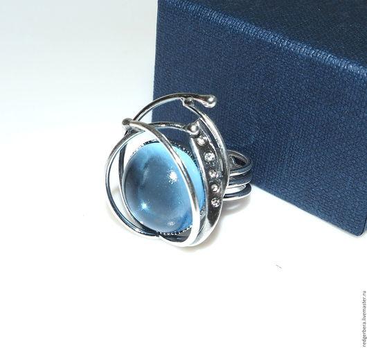"""Кольца ручной работы. Ярмарка Мастеров - ручная работа. Купить Кольцо """"Мой космос"""" стекло, серебрение 925 пробы. Handmade."""