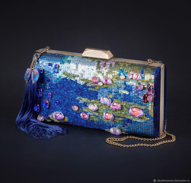 Evening bag 'water Lilies', Classic Bag, St. Petersburg,  Фото №1