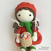 Куклы и игрушки ручной работы. Ярмарка Мастеров - ручная работа Куколка Красная Шапочка. Handmade.