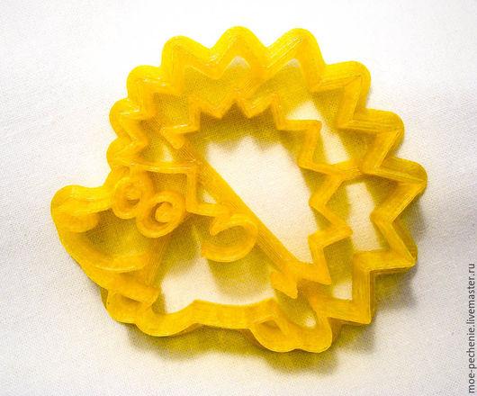 Ёжик (01). Вырубка-штамп для пряников, печенья, мастики, поделок из соленого теста.