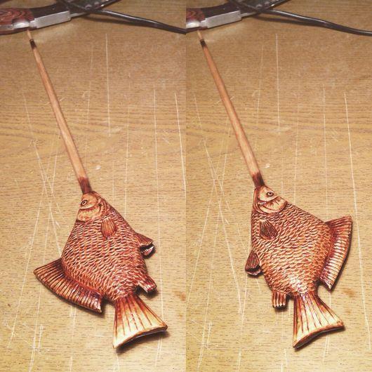 Персональные подарки ручной работы. Ярмарка Мастеров - ручная работа. Купить Удочки для зимней рыбалки в подарок рыболовам.. Handmade. Рыбалка