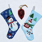 Подарки к праздникам handmade. Livemaster - original item christmas boot gift for the new year, christmas gift packing. Handmade.