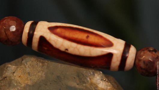 Браслеты ручной работы. Ярмарка Мастеров - ручная работа. Купить Браслет. Тибетская бусина Дзи (Зи)2 ГлазаШивы. Handmade. ДЗИ