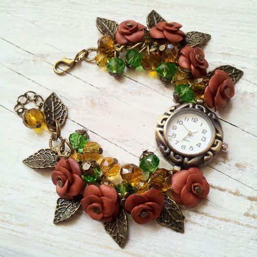 "Часы ручной работы. Ярмарка Мастеров - ручная работа. Купить Часы ручной работы ""Лесная нимфа"". Handmade. часы наручные"