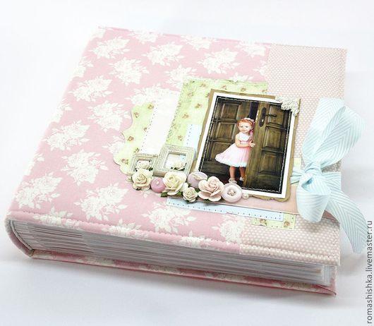 Фотоальбомы ручной работы. Ярмарка Мастеров - ручная работа. Купить Детский фотоальбом в стиле шебби шик. Handmade. Фотоальбом, скрап