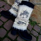 Обувь ручной работы. Ярмарка Мастеров - ручная работа Сапожки шерстяные Эффектные. Handmade.