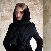 Одежда ручной работы. Ярмарка Мастеров - ручная работа Мое любимое черное пальто и кашемировый шарф. Handmade.