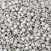 Материалы для творчества handmade. Livemaster - original item 5 grams Delica 11/0 silver DB335 of mats Japanese bead Delica Miyuki. Handmade.