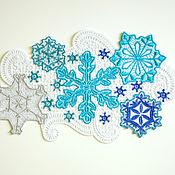Подарки к праздникам handmade. Livemaster - original item Doily snowflakes Dance.. Handmade.