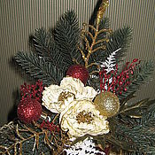 """Подарки к праздникам ручной работы. Ярмарка Мастеров - ручная работа Новогодняя композиция """"Праздник в каждый дом"""". Handmade."""