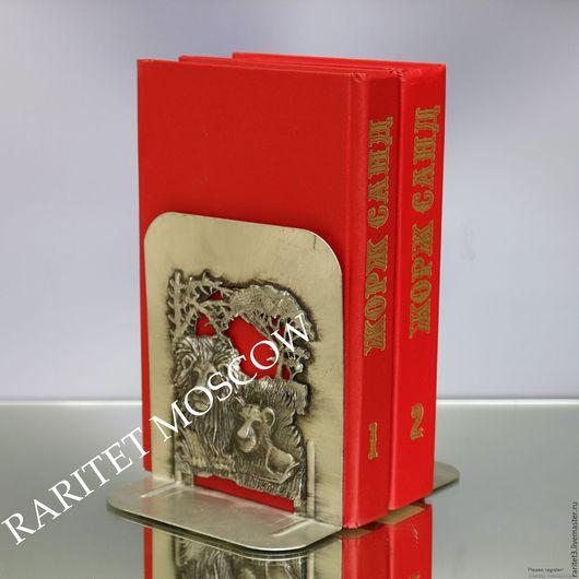 Винтажные предметы интерьера. Ярмарка Мастеров - ручная работа. Купить Букенды лев слон упоры для книг олово 1974г 4. Handmade.