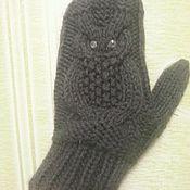 "Mittens handmade. Livemaster - original item Mittens ""Owl"". Handmade."