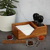 Для дома и интерьера handmade. Livemaster - original item Oak napkin holder. Free shipping. Handmade.