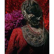 Украшения handmade. Livemaster - original item Necklace Russkie Uzory.. Handmade.