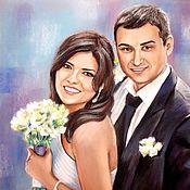 Картины и панно handmade. Livemaster - original item Wedding portrait. Handmade.