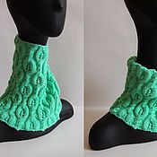 Аксессуары handmade. Livemaster - original item Knitted Snood with openwork leaves