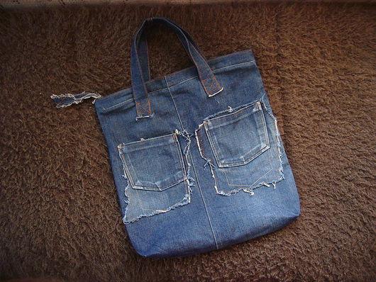 Женские сумки ручной работы. Ярмарка Мастеров - ручная работа. Купить джинсовая сумка. Handmade. Старые джинсы