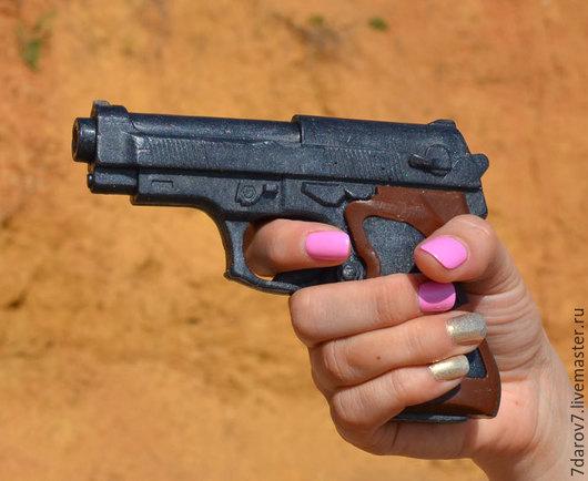 Мыло ручной работы. Ярмарка Мастеров - ручная работа. Купить Мыло Пистолет большой 3D. Handmade. Мыло ручной работы, радость