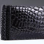 Сумки и аксессуары handmade. Livemaster - original item Money clip crocodile leather IMA0026B55. Handmade.